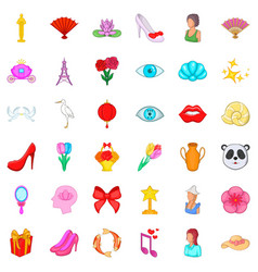 perfume icons set cartoon style vector image