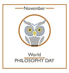 Philosophy Day vector image