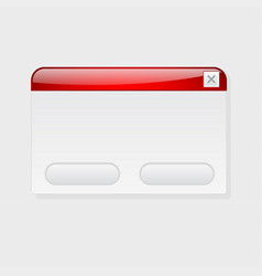 pop up application blank window interface element vector image