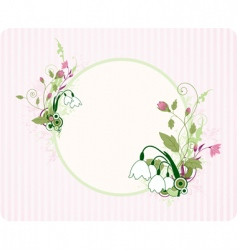 round banner with floral ornament vector image vector image