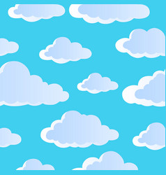 Seamless background with clouds 4 vector