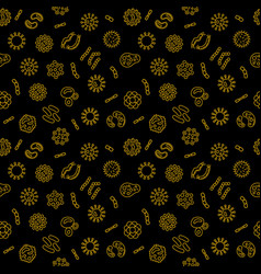 Seamless microbiology pattern bacteriology vector