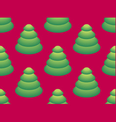 seamless pattern with isometric christmas trees vector image