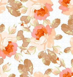 Seamless pattern with pastel roses vector image