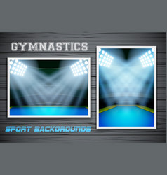 Set Backgrounds of gymnastics arena and stadium vector