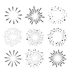 Set of Sparkles and Bursts Minimal design vector image