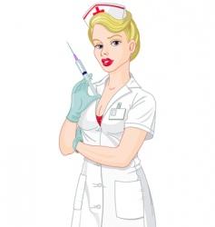 sexy nurse vector image
