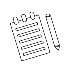 Sheet with pencil vector