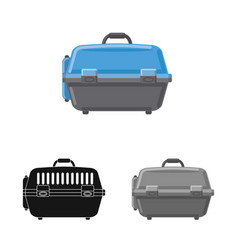 suitcase and baggage symbol vector image