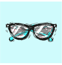 Sunglasses hand drawn fashion vector