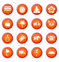 Taiwan icons set vector