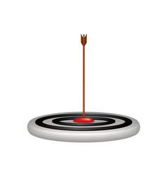 target and arrow in wooden design vector image