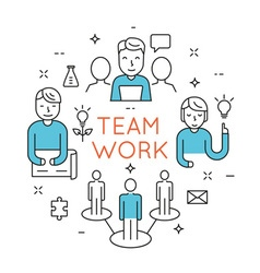 Teamwork people organization vector