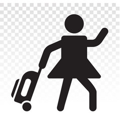 Traveler tourist flat icons for apps or website vector