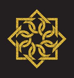 Tribal symbol in octagonal mandala form vector