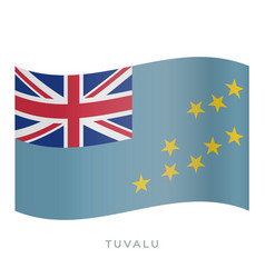 tuvalu waving flag icon vector image