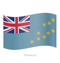 tuvalu waving flag icon vector image