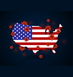 virus around united states vector image
