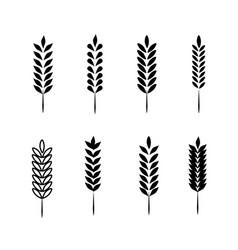 Wheat ears icons and logo set vector