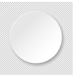 White banner ball isolated transparent background vector