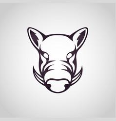 wild boar logo icon vector image