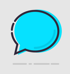Abstract flat blue chat icon vector