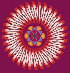 flower of life seed mandala vector image
