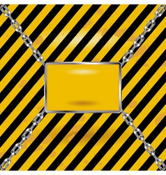 grunge black and yellow industrial blank sign vector image