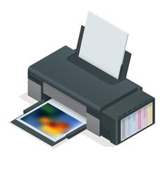 Photo inkjet printer Color printer prints photo vector image
