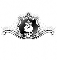 skull in frame vector image vector image
