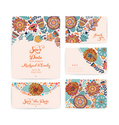 wedding invitation template envelope thank you vector image