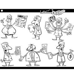 businessmen cartoon set vector image vector image