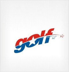 golf logo golf image symbol vector image vector image