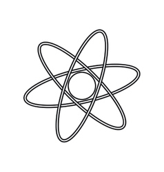 Isolated science atom design vector