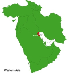 Kuwait map vector image