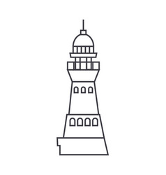 lighthouse line icon sign on vector image