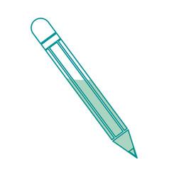 Pencil utensil school write wooden line vector
