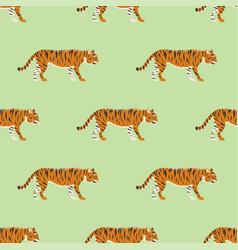 tiger action wildlife animal danger mammal vector image vector image