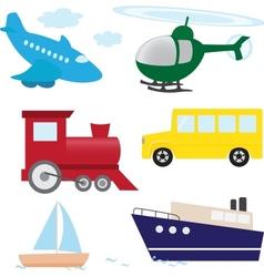 Cartoon transport set vector image vector image
