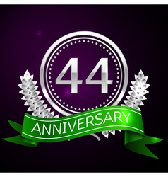 Forty four years anniversary celebration with vector image vector image