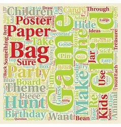 Birthday party games add to the fun text vector image vector image