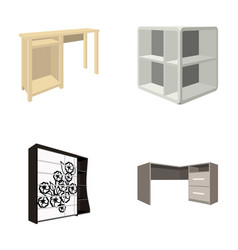 dressing table corner shelves computer desk vector image