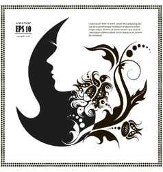 female silhouette images and emblems or vector image