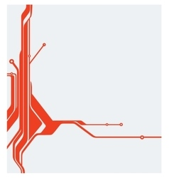 red abstract technology circuit board vector image