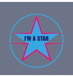star typography t-shirt graphics vector image vector image
