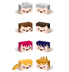 3D family avatars vector