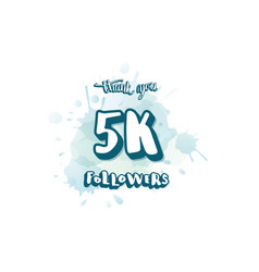 5000 followers social media template vector