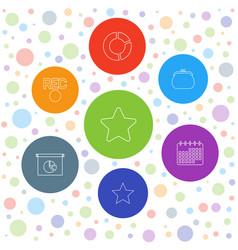 7 trendy icons vector image
