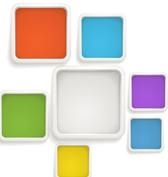 Abstract background color boxes vector