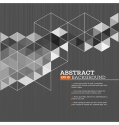 Abstract template background with triangle shapes vector image
